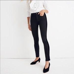 """Madewell 9"""" High Rise Velvet Tuxedo Skinny Jeans"""